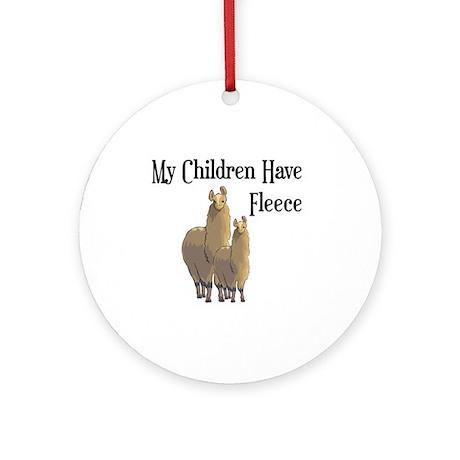My Children Are Alpacas Ornament (Round)