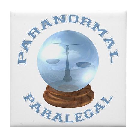 Paranormal Paralegal Tile Coaster