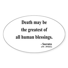 Socrates 15 Oval Decal