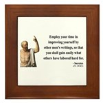 Socrates 16 Framed Tile