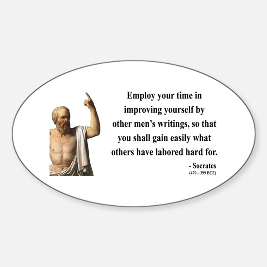 Socrates 16 Oval Decal