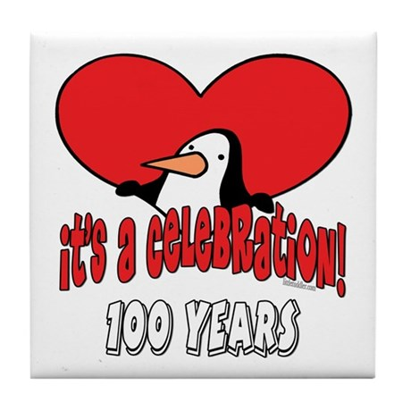 100th Celebration Tile Coaster