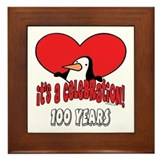 100th birthday plaques Framed Tiles