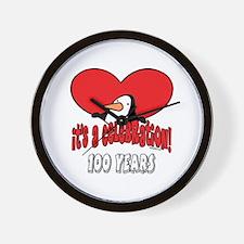 100th Celebration Wall Clock