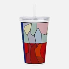 Texas Stained Glass Wi Acrylic Double-wall Tumbler