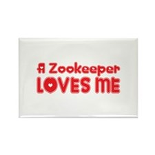 A Zookeeper Loves Me Rectangle Magnet (10 pack)