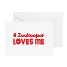 A Zookeeper Loves Me Greeting Cards (Pk of 20)