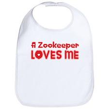 A Zookeeper Loves Me Bib