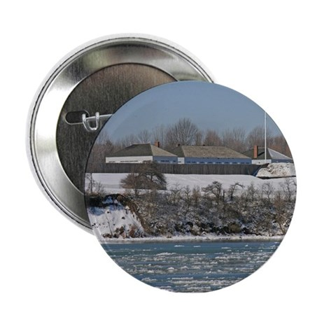 """Fort George In The Winter 2.25"""" Button"""