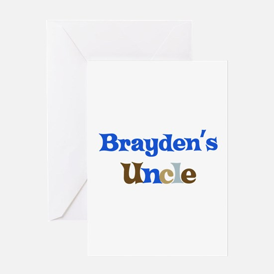 Brayden's Uncle Greeting Card