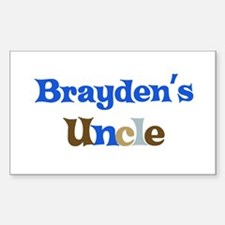 Brayden's Uncle Rectangle Decal