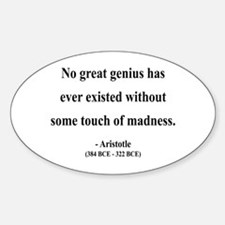 Aristotle 10 Oval Decal