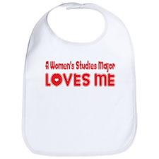 A Women's Studies Major Loves Me Bib