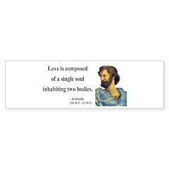 Aristotle 11 Bumper Bumper Sticker