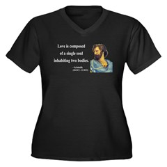 Aristotle 11 Women's Plus Size V-Neck Dark T-Shirt