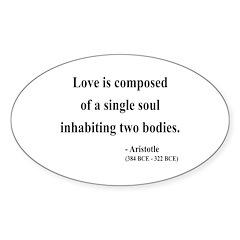 Aristotle 11 Oval Decal