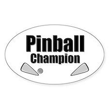 Old School Pinball Arcade Gam Oval Decal