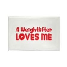 A Weightlifter Loves Me Rectangle Magnet