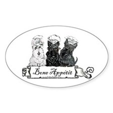 Scottish Terrier Chefs Oval Decal