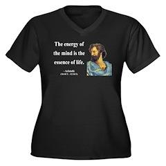 Aristotle 12 Women's Plus Size V-Neck Dark T-Shirt