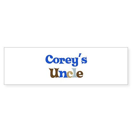 Corey's Uncle Bumper Sticker