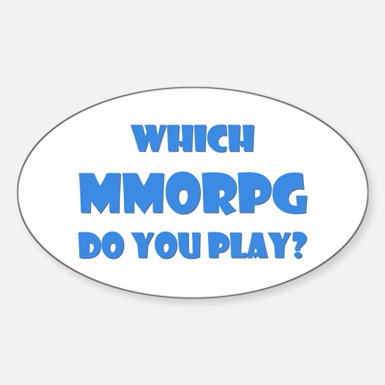 Blue MMORPG Question Oval Decal