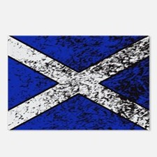 Scotland Flag Grunged Postcards (Package of 8)