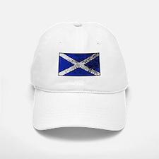Scotland Flag Grunged Baseball Baseball Cap