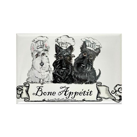 Scottish Terrier Chefs Rectangle Magnet (10 pack)