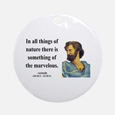 Aristotle 13 Ornament (Round)