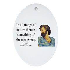 Aristotle 13 Oval Ornament
