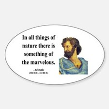 Aristotle 13 Oval Decal