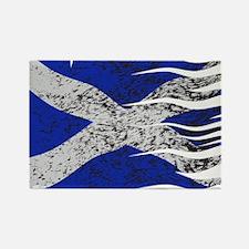 Wavy Scotland Flag Grunged Magnets