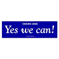 Yes We Can Obama Bumper
