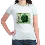 GREEN IRISH GORILLA Jr. Ringer T-Shirt
