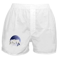 White Wolf and Half Moon Boxer Shorts