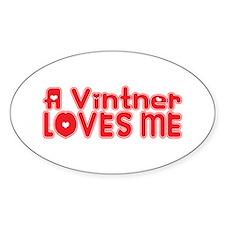 A Vintner Loves Me Oval Decal