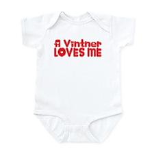 A Vintner Loves Me Infant Bodysuit