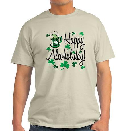 St. Partrick's Happy Alchoholiday! Light T-Shirt