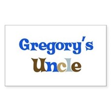 Gregory's Uncle Rectangle Decal