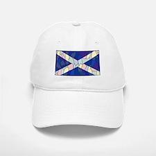 Scotland Flag Stained Glass Window Baseball Baseball Cap