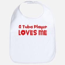 A Tuba Player Loves Me Bib