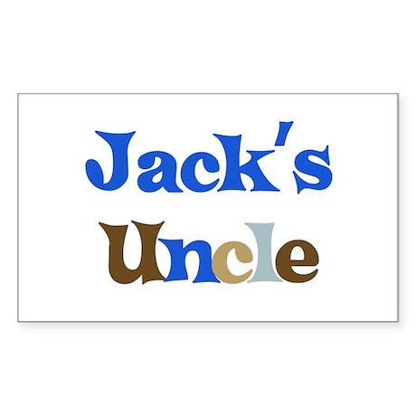 Jack's Uncle Rectangle Sticker