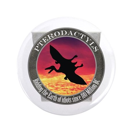 """Pterodactyls 3.5"""" Button (100 pack)"""