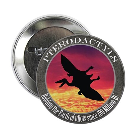 """Pterodactyls 2.25"""" Button (100 pack)"""