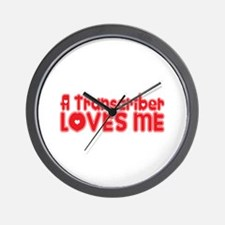 A Transcriber Loves Me Wall Clock