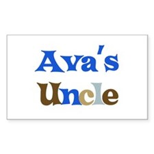 Ava's Uncle Rectangle Decal