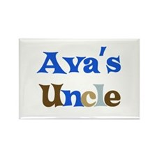 Ava's Uncle Rectangle Magnet