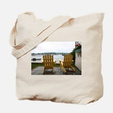 Chairs in Maine Tote Bag