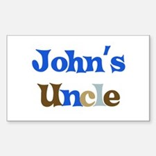 John's Uncle Rectangle Decal